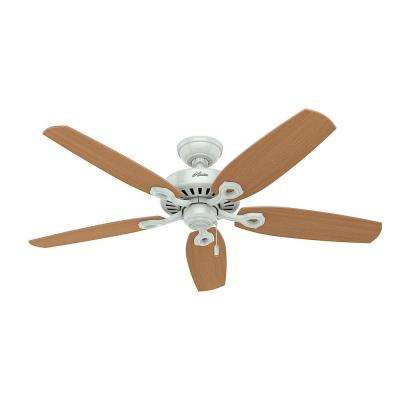 Builder Deluxe 52 in. Indoor White Ceiling Fan with Light Kit