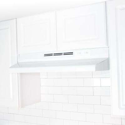 AD Series 36 in. Under Cabinet Ductless Range Hood with Light in White