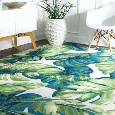 Contemporary Floral Lisa Multi Indoor/Outdoor 5 ft. x 8 ft. Area Rug