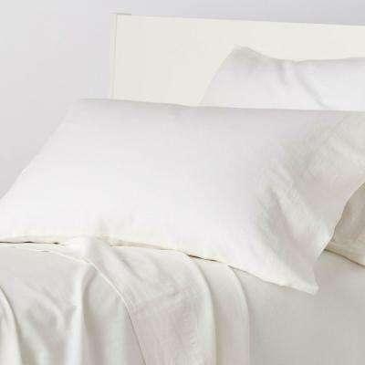 Linen Cotton Solid Pillowcase (Set of 2)