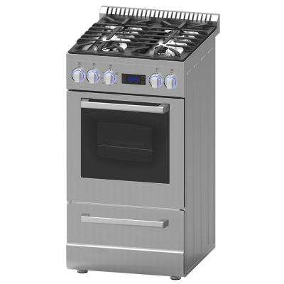 Elite Series 20 in. 2.1 cu. ft. Gas Range in Stainless Steel