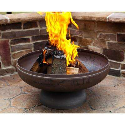 Patriot 24 in. x 13 in. Round Steel Wood Fire Pit