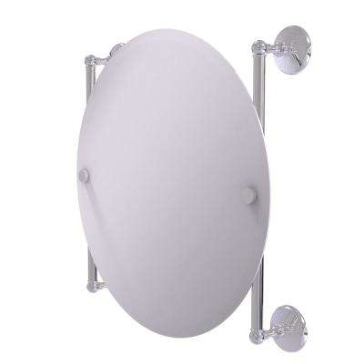 Monte Carlo Collection 22 in. x 22 in. Round Frameless Rail Mounted Mirror in Polished Chrome