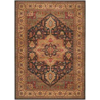 Mahal Navy/Natural 8 ft. x 11 ft. Area Rug