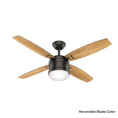 Seahaven 52 in. LED Indoor/Outdoor Noble Bronze Ceiling Fan