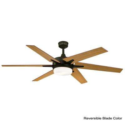 Cayuga 60 in. LED Oil Rubbed Bronze Ceiling Fan