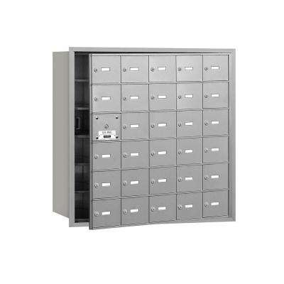 3600 Series Aluminum Private Front Loading 4B Plus Horizontal Mailbox with 30A Doors (29 Usable)