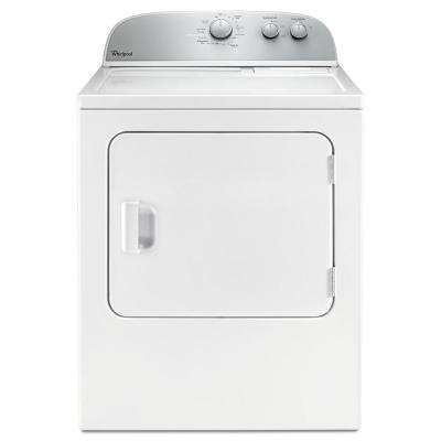 5.9 cu. ft. Electric Dryer in White