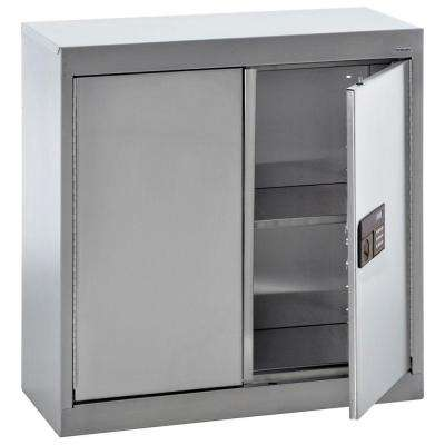 30 in. H x 30 in. W x 12 in. D Stainless Steel Wall Cabinet