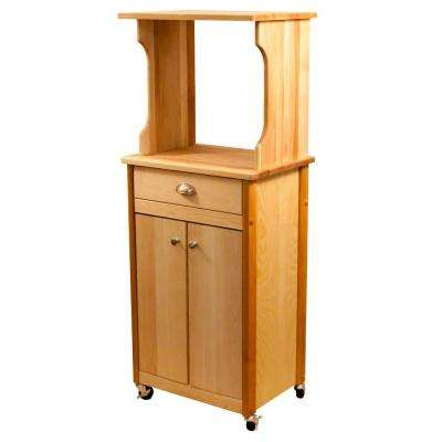 Catskill Craftsmen Catskill Natural Kitchen Cart With Hutch Top