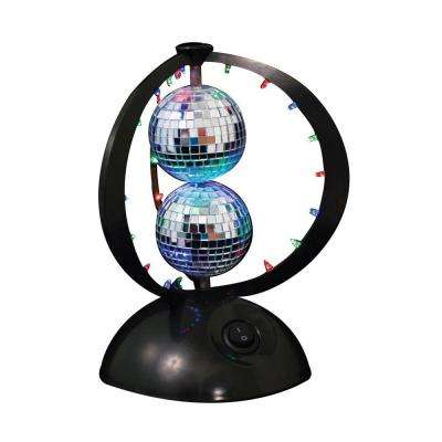 8.75 in LED Black Plastic Novelty Indoor Table Lamp with Flashing Color Phase