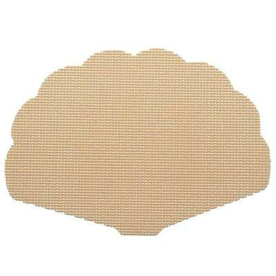 Fishnet Shell Placemat in Tan (Set of 12)