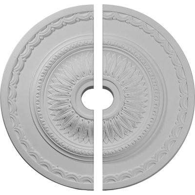 29-1/2 in. O.D. x 3-5/8 in. I.D. x 1-5/8 in. P Sunflower Ceiling Medallion (2-Piece)