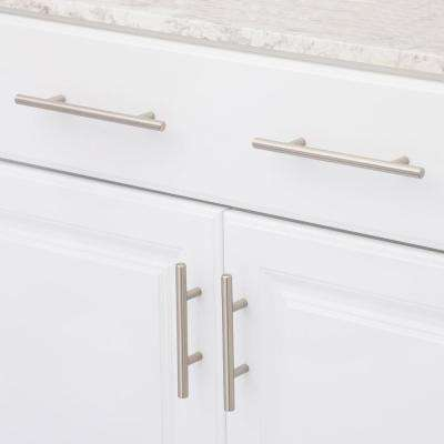 5-1/16 in. (128 mm) Center-to-Center Brushed Nickel Steel Contemporary Drawer Pull