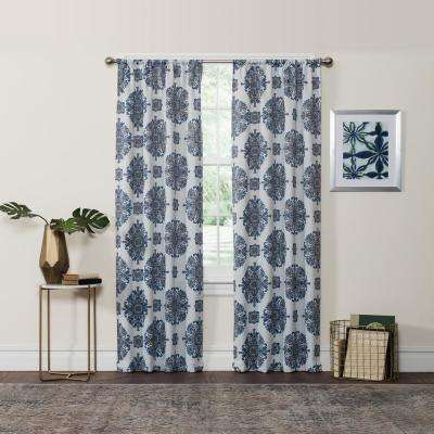 Blackout Aqua Rod Pocket Curtain