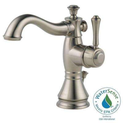 Cassidy Single Hole Single-Handle Bathroom Faucet in Stainless with Metal Pop-Up