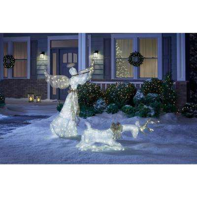 Sweet Serenity 60 in. LED Lighted Angel with Flute