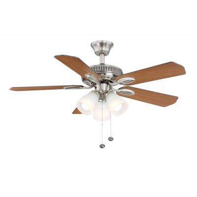 Glendale 42 in. LED Indoor Brushed Nickel Ceiling Fan with Light Kit