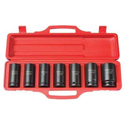 3/4 in. Drive 13/16 - 1-1/2 in. 6-Point Deep Impact Socket Set