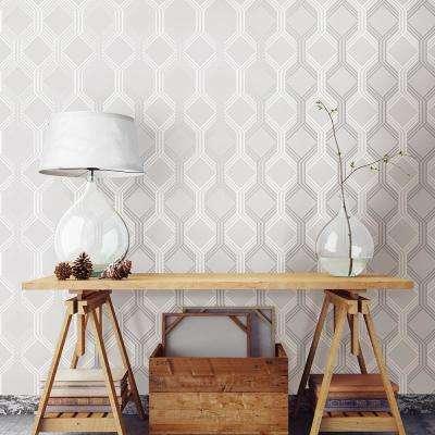 Linkage Grey Trellis Wallpaper