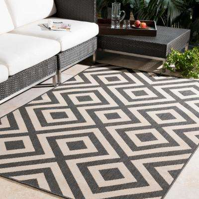 Square Indoor/Outdoor Area Rug Breckenridge Ebony 7 ft. x 7 ft. Square Indoor/Outdoor Area Rug