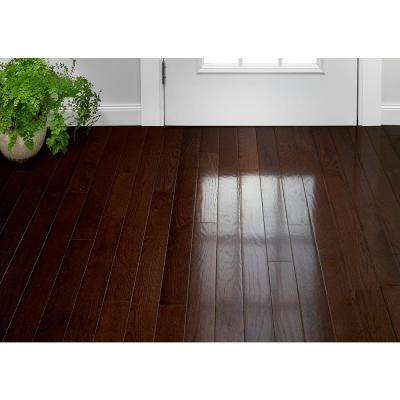 Plano Oak Mocha 3/4 in. Thick x 3-1/4 in. Wide x Varying Length Solid Hardwood Flooring (22 sq. ft. / case)