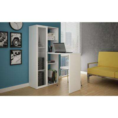 Asti 2-in-1 Piece White Office Suite