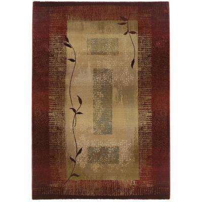 Mantra Red 6 ft. 7 in. x 9 ft. 1 in. Area Rug