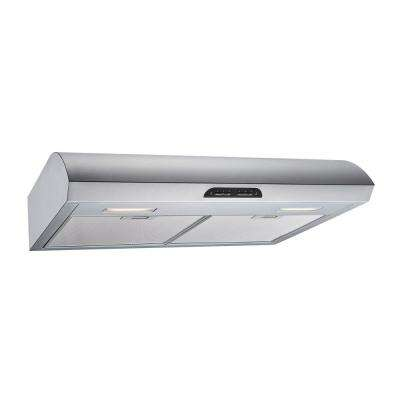 30 in. 480 CFM Convertible Under Cabinet Range Hood in Stainless Steel with Mesh, Charcoal Filters and Touch Controls