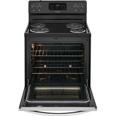30 in. 5.3 cu. ft. Single Oven Electric Range with Self-Cleaning Oven in Stainless Steel