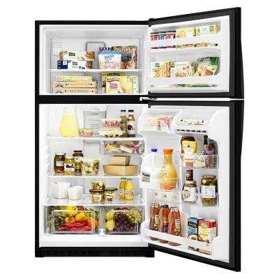 20.5 cu. ft. Top Freezer Refrigerator in Black