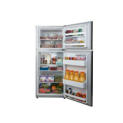 12 cu. ft. Top Freezer Apartment Refrigerator in Stainless Steel