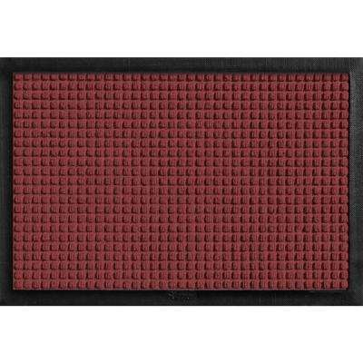 Aqua Shield with Rubber Border Red/Black 17.5 in. x 26.5 in. Pet Mat
