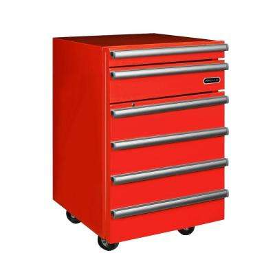 Portable 1.8 cu. ft. Tool Box Mini Refrigerator with 2 Drawers and Lock in Red