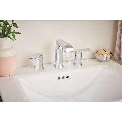 Genta 8 in. Widespread 2-Handle Bathroom Faucet in Chrome (2-Pack)