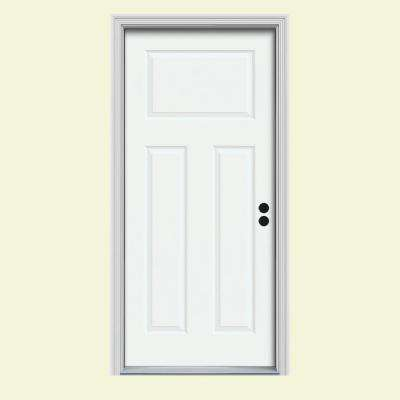 Craftsman 3-Panel Painted Steel Prehung Front Door
