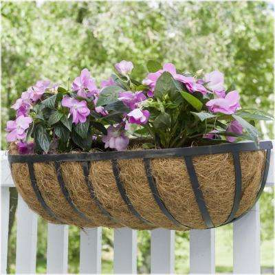 36 in. Metal English Flat-Wire Horse Trough Coco Planter