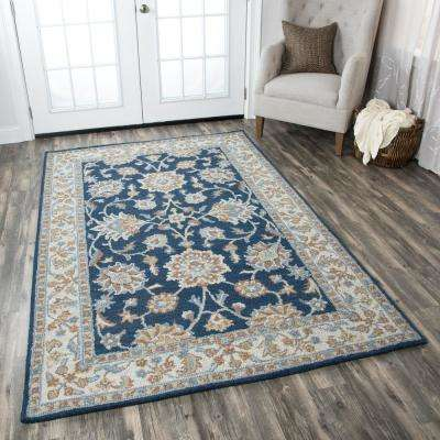 Ashlyn Blue/Ivory Hand Tufted Wool 9 ft. x 12 ft. Area Rug
