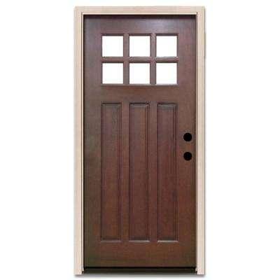 32x80 exterior door. Craftsman 6 Lite Stained Mahogany Wood Prehung Front Door 32 x 80  Doors With Glass The Home Depot