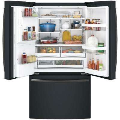 27.8 cu. ft. French Door Refrigerator in Black Slate, Fingerprint Resistant and ENERGY STAR