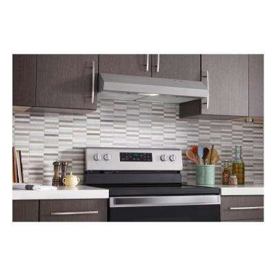 30 in. Under Cabinet Range Hood with LED Light in Stainless Steel