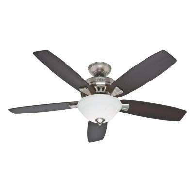 Banyan 52 in. Indoor Brushed Nickel Ceiling Fan with Light