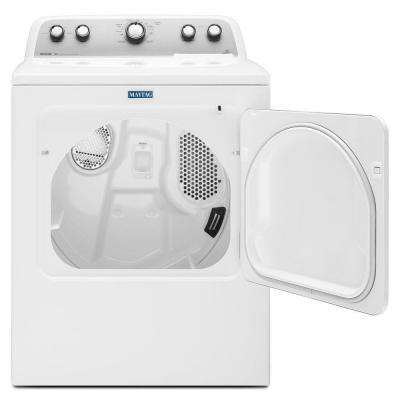 7.0 cu. ft. 240-Volt White Electric Vented Dryer with Sanitize Cycle