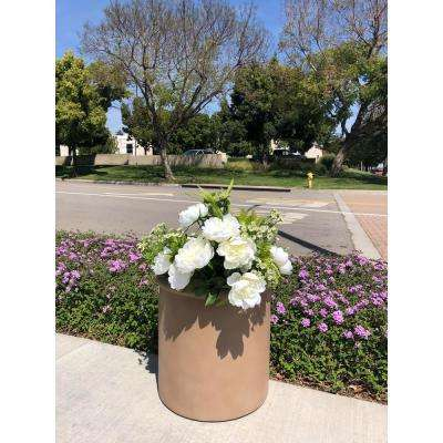 Medium 9.8 in. Dia x 9.8 in. Terracotta Lightweight Concrete Cylindrical Planter