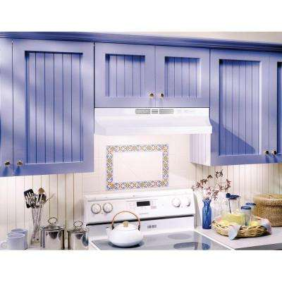 RL6200 Series 30 in. Ductless Under Cabinet Range Hood with Light in White