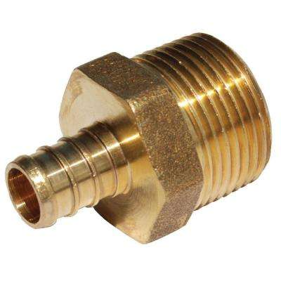 1/2 in. Brass PEX Barb x 3/4 in. Male Pipe Thread Adapter
