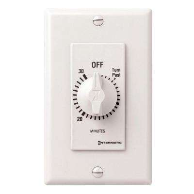 20 Amp 30-Minute Spring Wound In-Wall Timer - White
