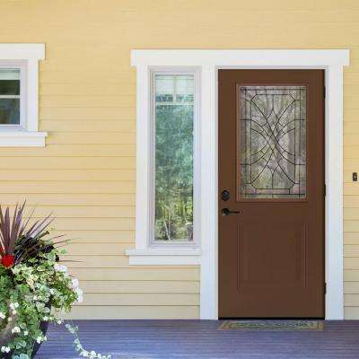 Webville 1/2 Lite Primed White Steel Prehung Front Door