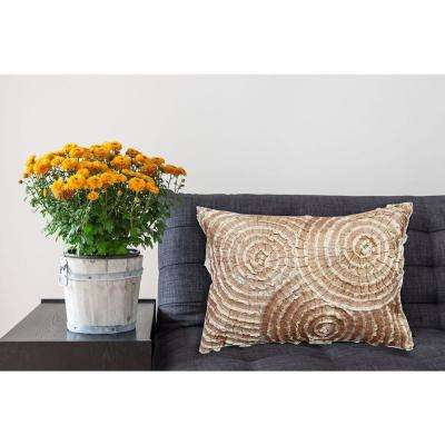 A1HC Spiral Lace Geometric 100% Polyester 14 in. x 20 in. Decorative Pillow