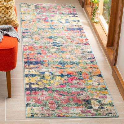Monaco Green/Blue 2 ft. 2 in. x 8 ft. Runner Rug